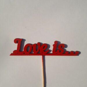 Топпер для букета Love you