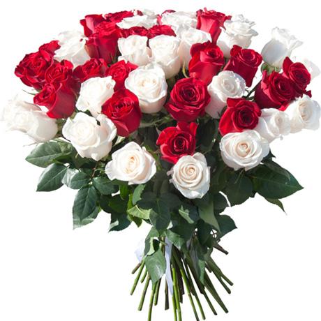 Букет 51 роза цвета микс