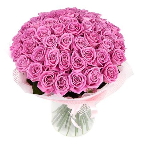 Букет 51 роза розового цвета