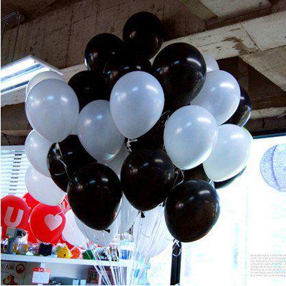 Воздушные шарики Белые и Черные