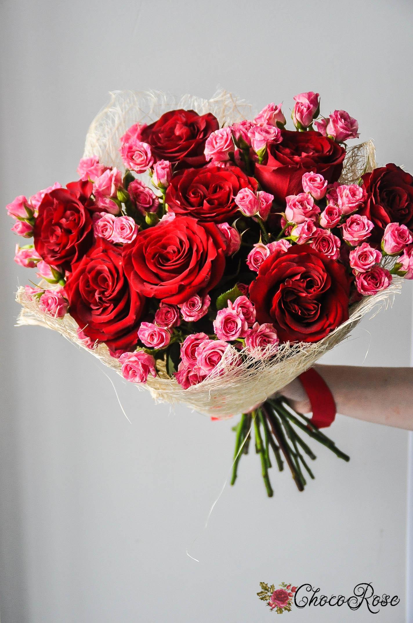 """Букет роз """"Рубин"""""""