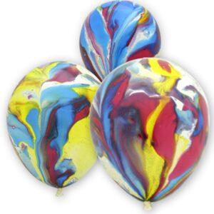 Воздушные шарики Многоцвет (Мраморные)