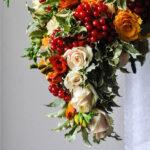 Осенний и очень фактурный букет невесты