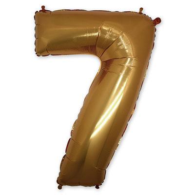 Фольгированный шар цифра (золото)
