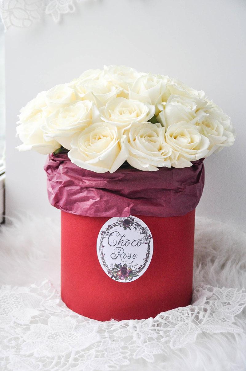 Розы в шляпной коробке №7