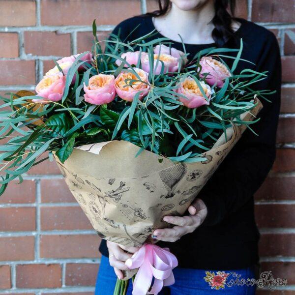 Букет с пионовидной розой №5