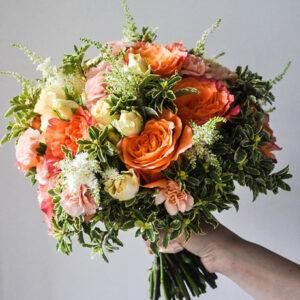 Осенний яркий букет невесты