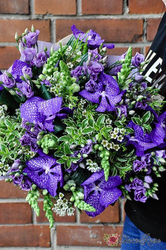 Букет с орхидеей Ванда №2