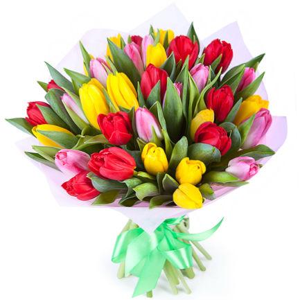 """Букет тюльпанов """"Яркий день"""""""