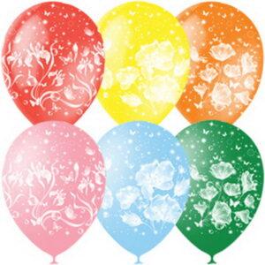 Воздушный шар Цветочки