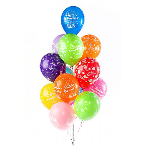 Фонтан из воздушных шаров 15шт