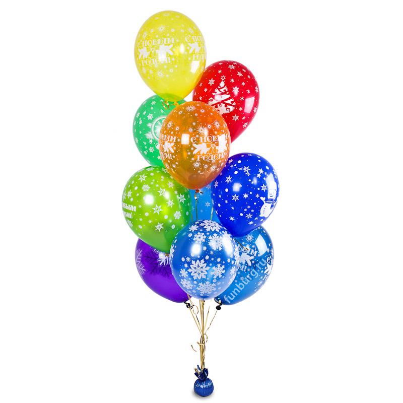 Фонтан из воздушных шаров 10шт