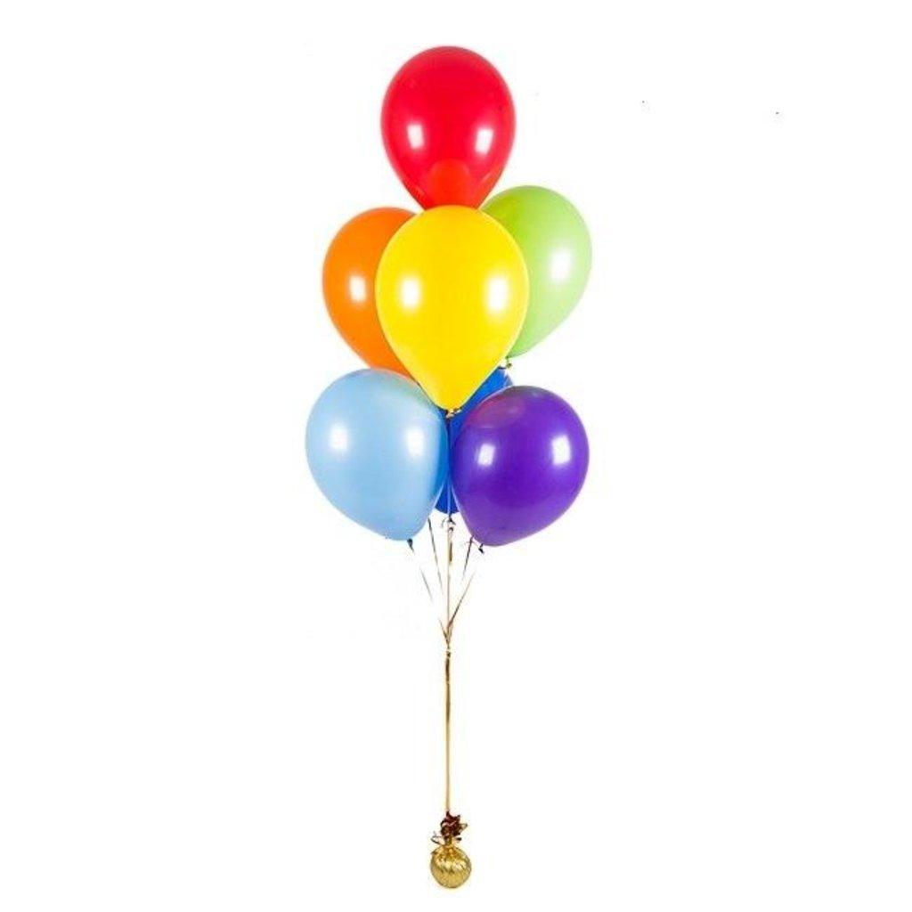 Фонтан из воздушных шаров 7шт