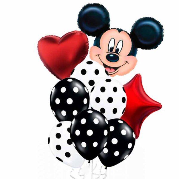 Букет/фонтан из воздушных шаров - Микки Маус