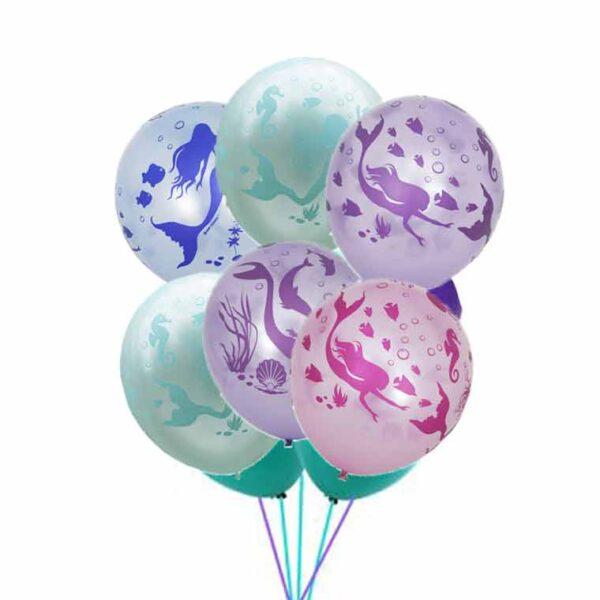 Фонтан из воздушных шаров 7шт Русалки