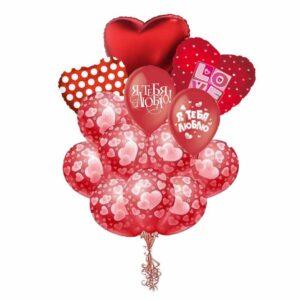 Букет/фонтан из воздушных шаров - С любовью №2