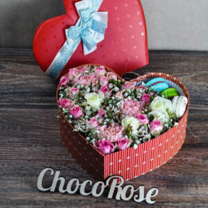 Оформление цветами подарков