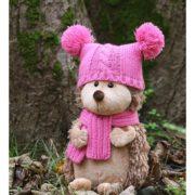 Ежик в розовой шапке