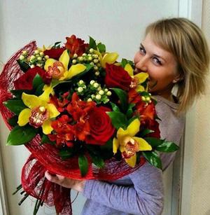 Букет цветов на день влюбленных