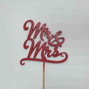 Топпер для букета Мистер и Миссис