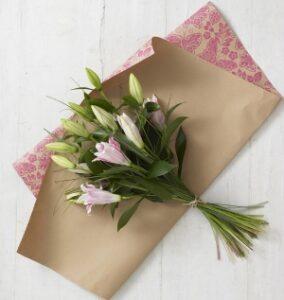 Упаковка цветов в морозы