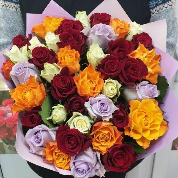 Букет из Кенийской розы микс