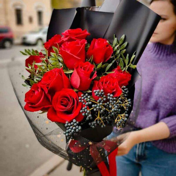 Букет роз ДЫМКА