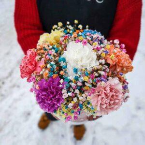 Цветы в шляпной коробке Радость