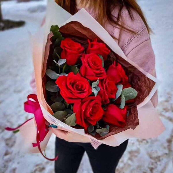 Букет красных роз Романс №1 NEW