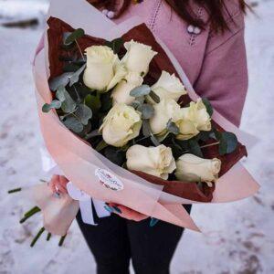 Букет белых роз Романс №2 NEW