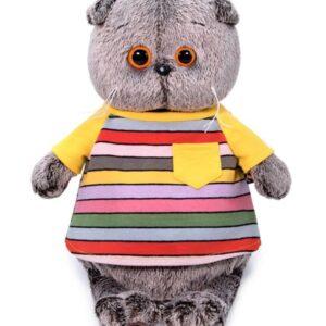 Басик в полосатой футболке с карманом