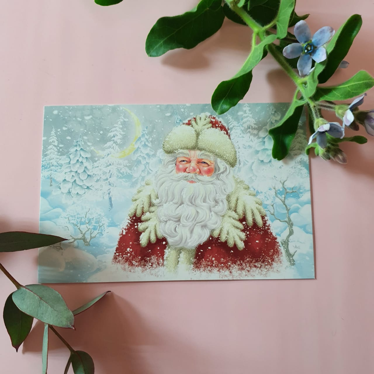 Открытка Дед Мороз