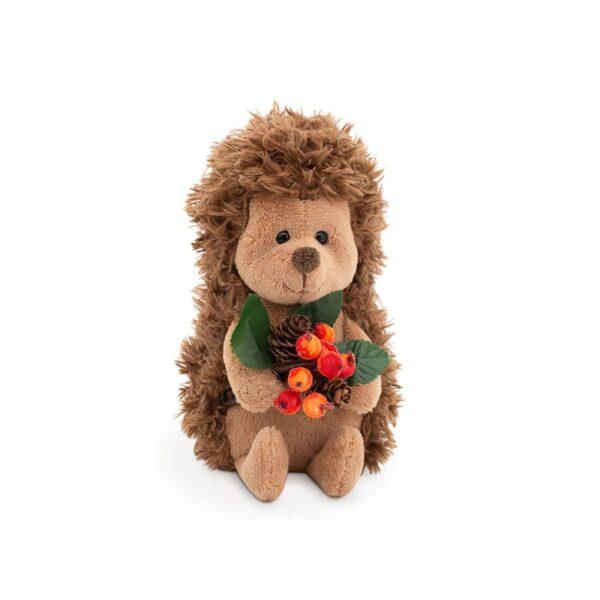 Мягкая игрушка Ежик с лесным букетом