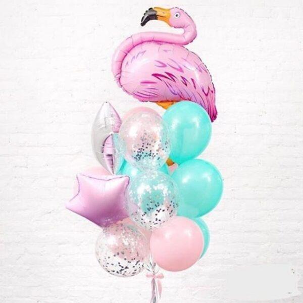 Фонтан из воздушных шаров Фламинго
