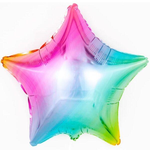 Воздушный шар Звезда Радуга