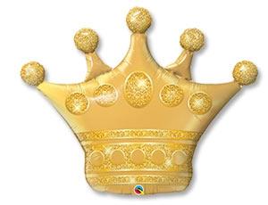 Воздушный шар Корона Золото