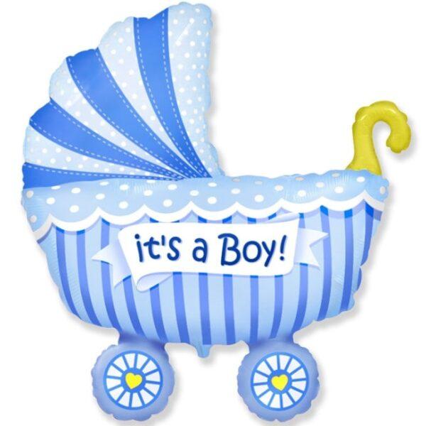 Воздушный шар Коляска (мальчик)