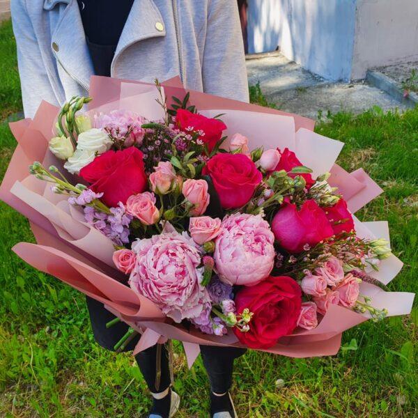 Букет Пионы с Розами